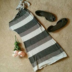 Sparkle Gray Striped Tunic